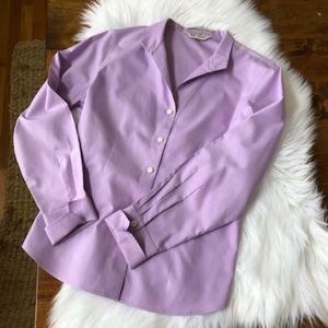 Orvis career wear Lilac/Lavendar No iron button-up